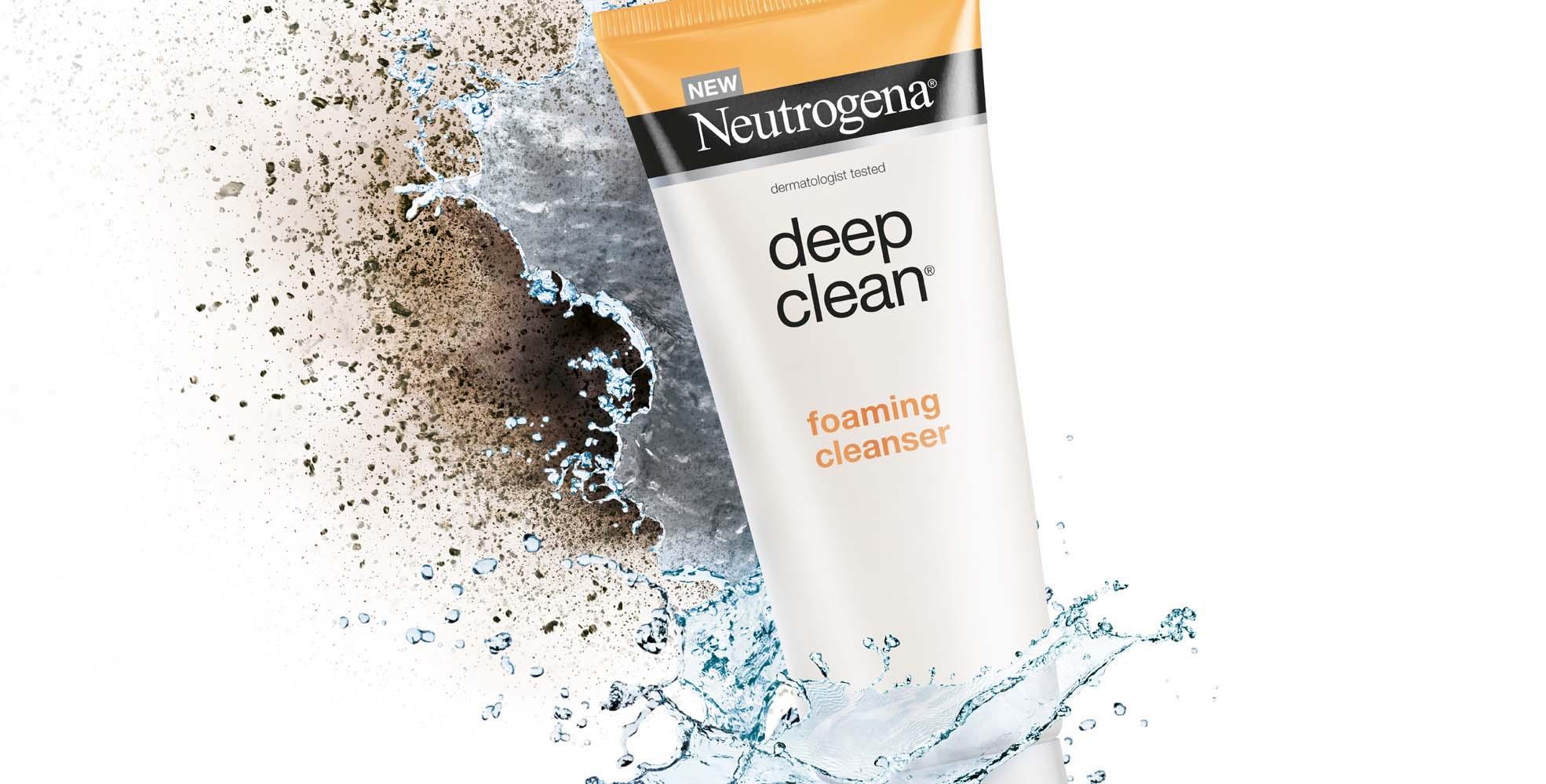 Neutrogena Deep Clean membersihkan mikropolutan di wajahmu